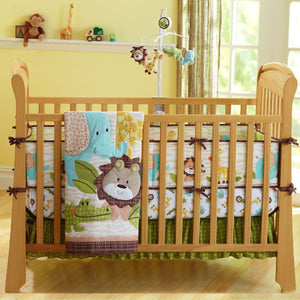 7Pcs/Set Baby Bedding Crib Cot Quilt Set Nursery Bumper Sheet Dust Ruffle Blanket Safety Cotton Baby Bedding Set Washable