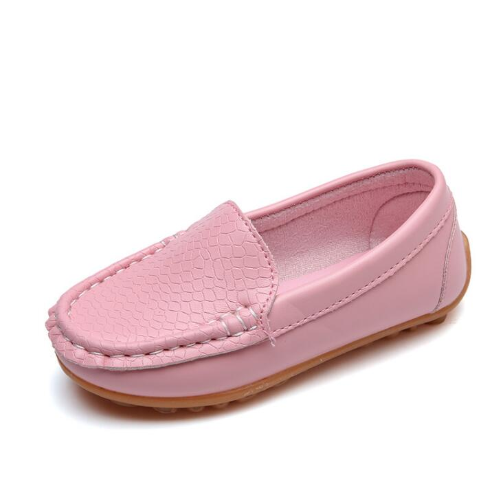 8 Colors Unisex Kids Shoes All Seasons Boys Loafers Soft PU Leather Moccasins Girls Shoes Size 21-37 7HW0336 - thefashionique