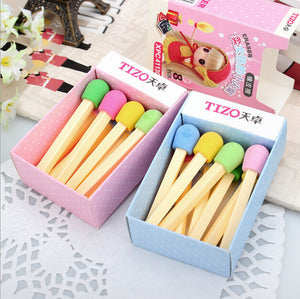 8 pcs/box Cute Kawaii Eraser Rubber Erasers for Kids Students Gifts School Office Supplies Korean Stationey Accessories