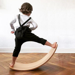 80x30cm Kinderboard Environmental Protection Build Balance Non-fading Wooden Balance Board For Toddlers Kids Teens Adults