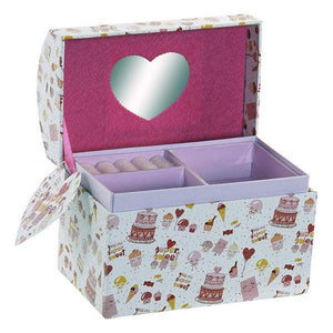 Jewelry box Dekodonia Supersweet Cardboard Mirror (16 x 10 x 13 cm)
