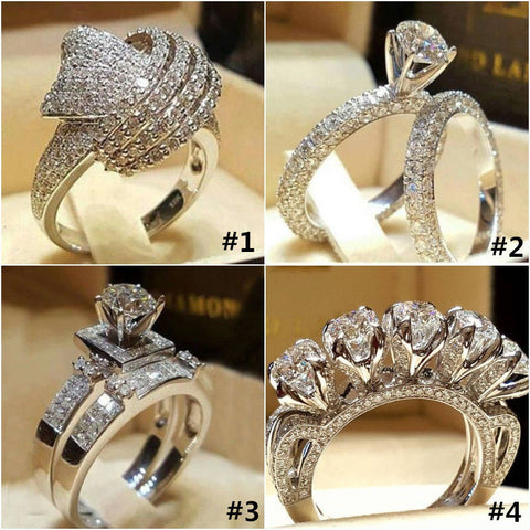 925 sterling silver  heat sell creative  engagement ring  R4982 - thefashionique