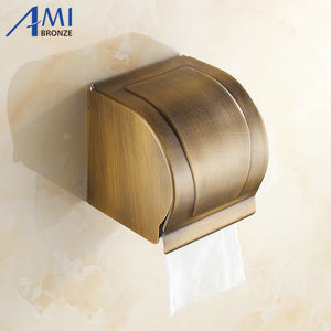 AB1 Series Antique Brass Paper Holder BOX Holders Wall Mounted Bathroom Accessories Sanitary wares 7009A - thefashionique