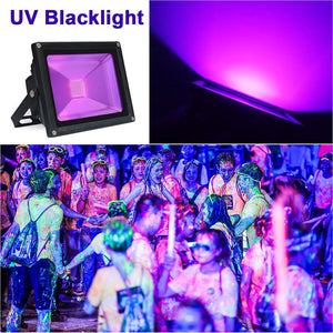 AC85-265V 10W 20W 30W 50W UV LED Flood light Outdoor IP65 Waterproof Ultra Violet Black Light Stage Light for DJ Disco Party Bar