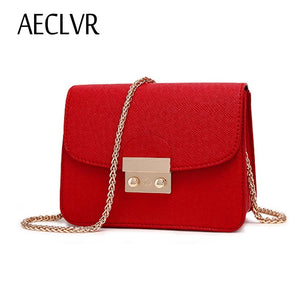 AECLVR Small Women Bags PU leather Messenger Bag Clutch Bags Designer Mini Shoulder Bag Women Handbag Hot Sale bolso mujer purse - thefashionique