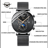 AILANG TOP luxury brand Sapphire glass men's watches, winding automatic mechanical reloj Swiss gear case 2019 minimalism watch