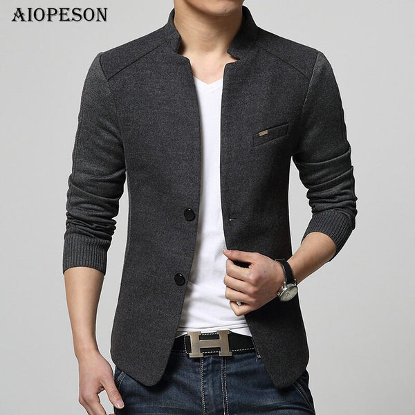 AIOPESON New Mens Blazer Patchwork Suits For Men Top Quality Red Blazers Slim Fit Woolen Outwear Coat Costume Homme Blazer Men - thefashionique