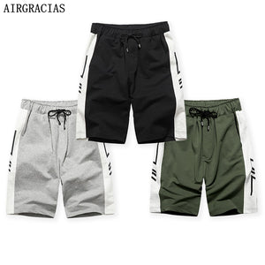 AIRGRACIAS 3Pcs Summer Shorts Men 2020 Casual Short Trunks Fitness Workout Beach Shorts Man Breathable Cotton Jogger Sweatpants - thefashionique