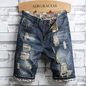 AIRGRACIAS Men Shorts Ripped Hole Jeans Brand Clothing Cotton Shorts Denim Shorts Men 2020 New Fashion Bermuda Size 28-40 - thefashionique