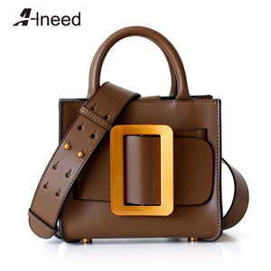ALNEED Luxury Handbags Women Bags Designer Genuine Leather Mini Shoulder Bags 2020 Purse Clutch for Girls Crossbody Bag - thefashionique