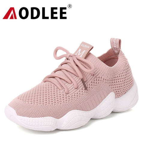 AODLEE Luxury Brand Air Mesh Shoes Women Sneakers Breathable Lace up Flats Vulcanize Shoes Woman tenis feminino Chaussure Femme