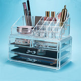ASFULL Acrylic Cosmetic Makeup Organizer Drawer Storage Makeup Box Storage Insert Lipstick, Gloss Box Holder Organizer Shelf - thefashionique