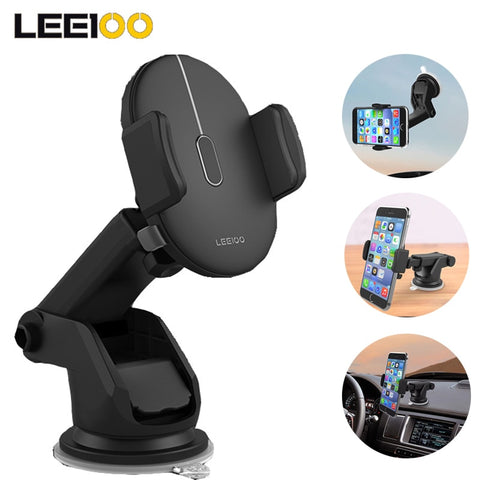 Adjustable Automatically Locking Phone Holder Mount Windshield Co-pilot Universal Car Phone Bracket Auto Interior Accessories - thefashionique