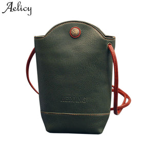 Aelicy Brand Women Messenger Bags Slim Crossbody Shoulder Bags PU Leather Bucket Bag Girl Ladies Handbag Small Body sac femme - thefashionique