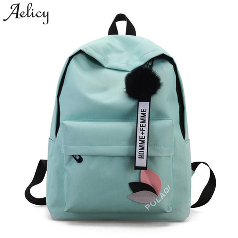 Aelicy High Quality New Arrival Women's Canvas Backpack School bag For Girls Rucksack New Design Backpacks School bags Travel - thefashionique