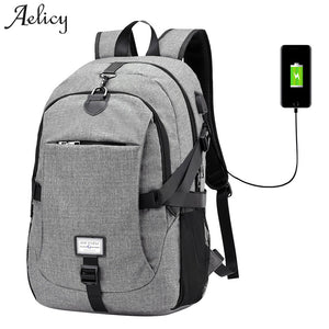 Aelicy Luxury Oxford Backpack Male New Design Anti-theft Backpack With USB Charging Waterproof Travel Backpack Multifunctional - thefashionique