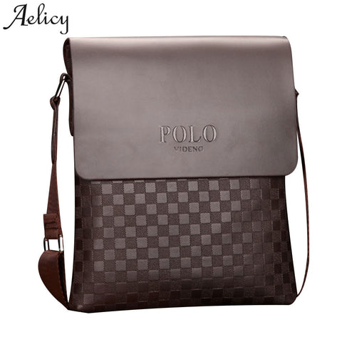 020a91bd1b Aelicy Men Casual Leather Messenger Bag High Quality Famous Brand Business  Bag Men s Handbag 2018 New