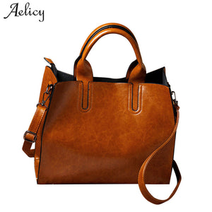 Aelicy pu leather bag female vintage woman designer bags luxury high quality messenger bag women handbag cross body women bag - thefashionique