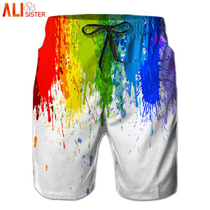 Alisister Oil Painting Casual Shorts Mens Summer Boardshorts Men Shorts Bermuda Casual Jogger Sweatpants Dropshipping - thefashionique