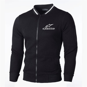 Alpinestar Zipper Men Coat Fashion Zip V-neck Man Casual Slim Hoody Sweatshirt