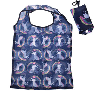 Animal Unicorn Foldable Handy Shopping Bag Reusable Tote Pouch Recycle Storage Handbags Home Storage Organization Bag - thefashionique