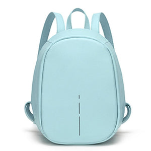 Anti Theft Backpack Women Daily Reflective Stripe High Quality PU Leather Backpack Small Lady School Bagpack for Female - thefashionique