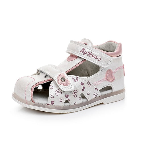 Apakowa Summer Girls Closed Toe Sandals Toddler Kids Children Sandals for  Baby Girls Floral Princess Orthopedic Walking Shoes