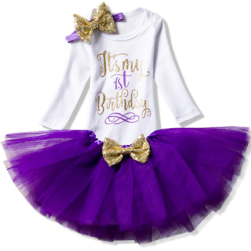 Autumn Long Sleeve Baby Girls Dress For Little Ones First Birthday Girl Party Outfits NewBorn Toddler Baptism Tutu Dress Clothes - thefashionique