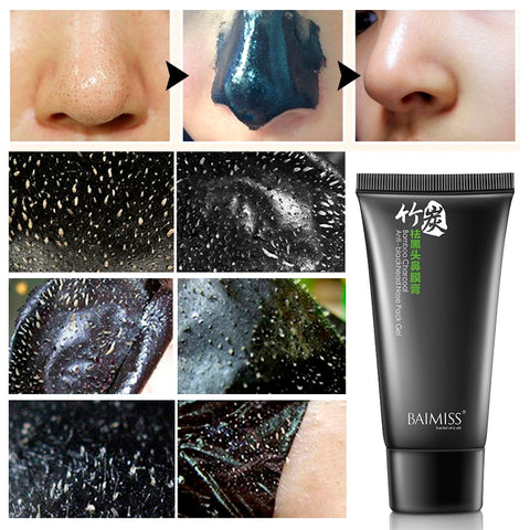 BAIMISS Nose Blackhead Remover Face Black Mask Acne Treatment Peeling Mask Suction Facial Skin Care Pore Strip Black Head Masks - thefashionique