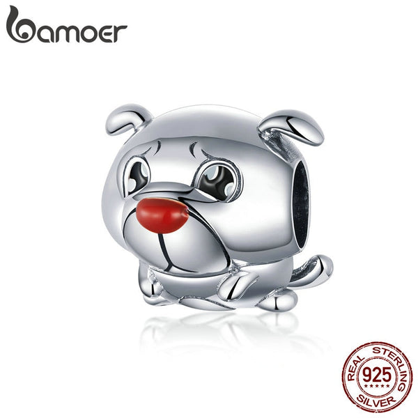 BAMOER New Arrival 925 Sterling Silver French Bulldog Beads fit Women Charms Bracelets & Bangles DIY Jewelry Making BSC054 - thefashionique