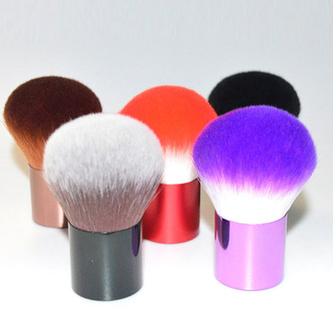 BBL 1pcs Real Premium Quality Soft Blush Brush Power Foundation Brush 6 Color Make Up Brush Portable Beauty Essential