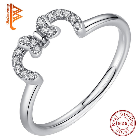 BELAWANG Real 925 Silver Rings Wedding Rings for Women Fashion Jewelry Bague Femme Anillos Mujer 2019 Valentine's Day Gift - thefashionique