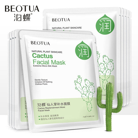 BEOTUA Facial Mask Cartoon Face Mask Deep Nourish Brighten Moisturizing Facial Mask Hyaluronic Acid Beauty Skin Care Sheet Mask - thefashionique