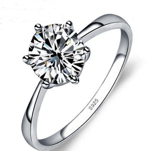 BFQ Romantic Wedding Ring Cubic Zirconia S925 Sterling Silver Rings for Women Men Fine Jewelry - thefashionique