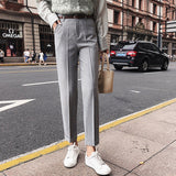 BGTEEVER OL Style Pants for Women Casual Sashes Harem Pant High Waist Elegant Work Trousers Female Casual Bottoms 2018 Autumn - thefashionique