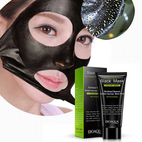 BIOAQUA  Bamboo Charcoal Julep Black Mask  Face Skin Care Blackhead Remover And Oil-Control Depth Clean Pore Dirt - thefashionique