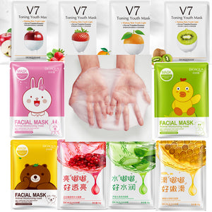 BIOAQUA Red Pomegranate Mask Fruits animals mascara facial mask treatment  sheet masks korean cosmetics acne tony moly skin care - thefashionique