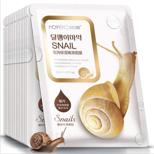 BIOAQUA Sheet Mask 10pcs Snail Essence Facial Mask Skin Care Face Mask Whitening Hydrating Moisturizing Mask Lot Factory Price - thefashionique
