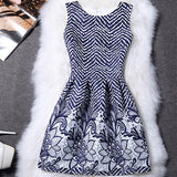 BONGOR LUSS Women Summer Dress Vintage Printed Sexy Sleeveless Party Dresses Female Clothing A-Line Casual Dress Robe - thefashionique