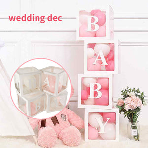 Baby Balloon Box Transparent Box DIY Letter Balloon Baby Birthday Party Decor Kids Latex Macaron Balloon Babyshower Decor Kids