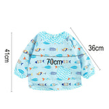Baby Bibs Cartoon Waterproof Long Sleeve Baby Apron Saliva Towels Infant Cotton Burping Cloth for Children's Feeding Accessories - thefashionique