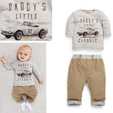 Baby Boys Clothes 2018 Summer Clothing Baby Boys Sets New Casual Cotton Car Letter T-shirts + Pants Suit - thefashionique
