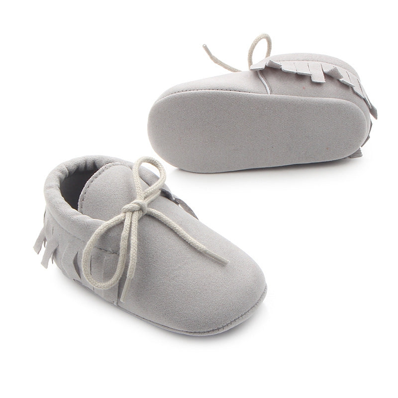 Baby Boys Girls Moccasins Moccs Shoes First Walkers Bebe Fringe Soft Soled Non-slip Footwear PU Leather Crib Shoes - thefashionique