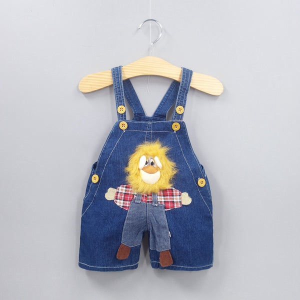 Baby Clothing Boys Girls Jeans Overalls Shorts Toddler Kids Denim Rompers Cute Cartoon Bebe Jumpsuit Summer Bib Pants Clothes - thefashionique