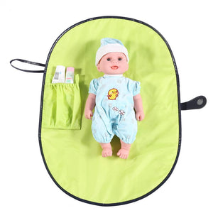 Baby Diaper Changing Mat Waterproof Portable Nappy Changing Pad Travel Changing Station Clutch Baby Care Products Hangs Stroller - thefashionique