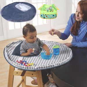 Baby Eating Table Mat Feeding Chair Cushion Waterproof Round Folding Infants Pad A Bibs As A Gift