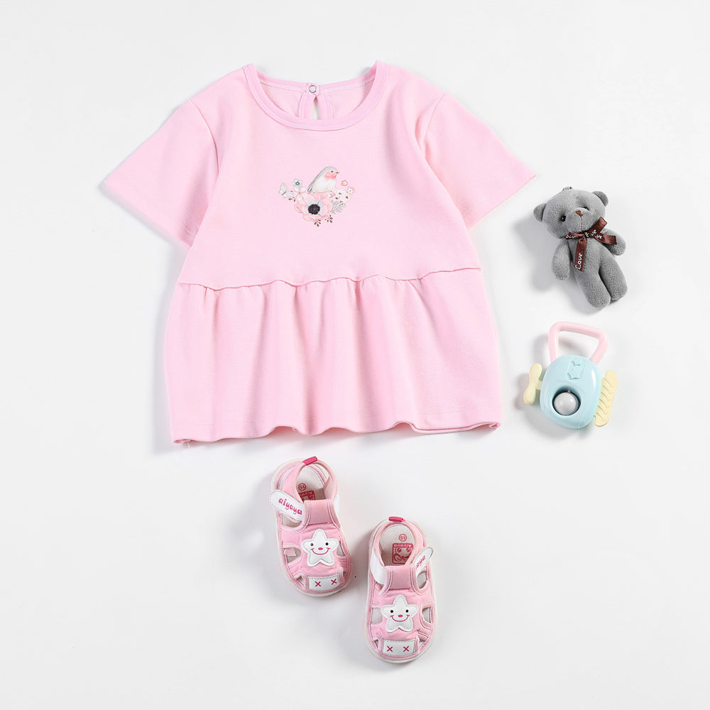 bd034484f Baby Girl Dress for Newborn dresses Tiny Cotton Baby clothing Cute Chi