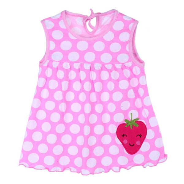Baby Girl Sweet Summer Cotton Kids Sleeveless Cartoon Embroidery Vest Dress - thefashionique