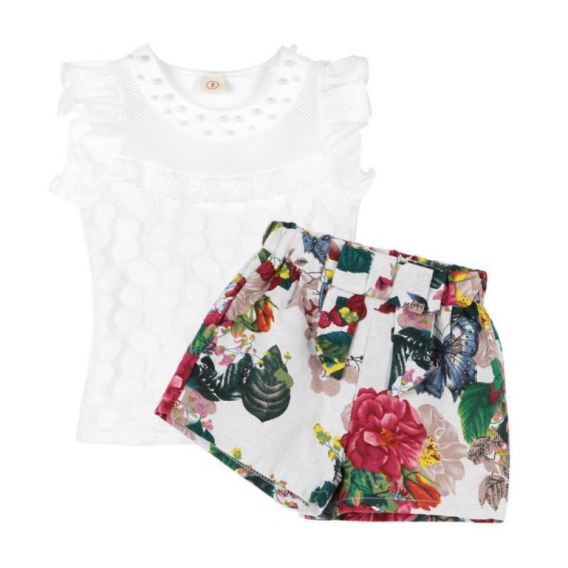 Baby Girls Clothes Set Children Short Sleeve T-shirt + Short Print Panties Girl Clothing Sets Summer - thefashionique