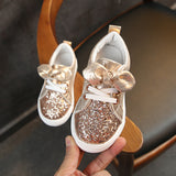 Baby Kids Shoes Girls Sneakers Glitter 2019 Toddler Girl Sneakers Soft Bottom with Crystal Kid Shoes Children Girls Bling C03071 - thefashionique